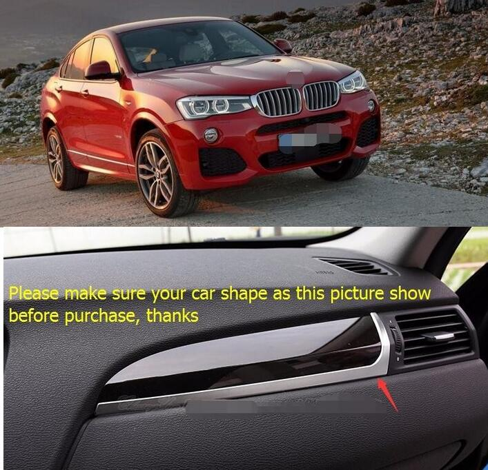ФОТО Accessories Central Control Instrument Panel Decoration Cover Interior Trim For BMW X4 2014 2015/ X3 2014