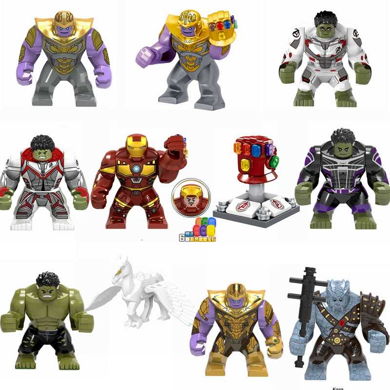 Legoing Marvel Avengers Endgame Iron man Thanos Hulk Horse Building Blocks Toys Compatible Marvels Legoing Avengers Superheroes