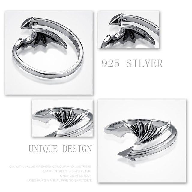 Купить jiashuntai 100% 925 пробы серебряные кольца для женщин с крыльями
