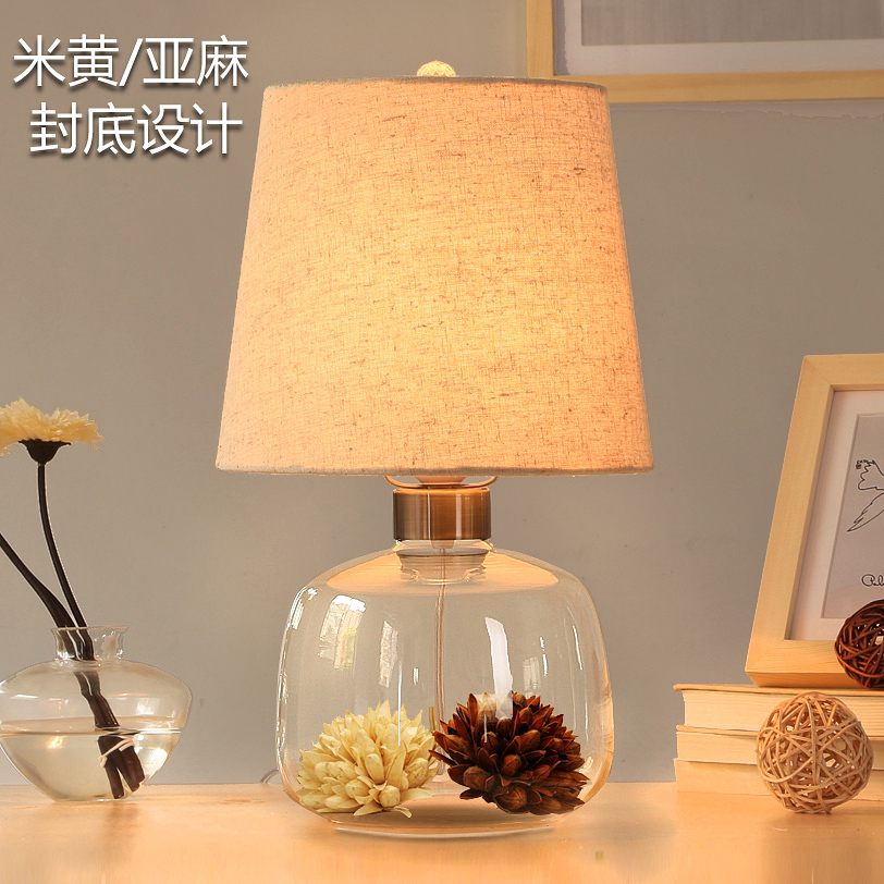 modern fashion cloth glass table decoration lamp European Eternal flower desk lamps dimmable/undimmable table lamps N1291