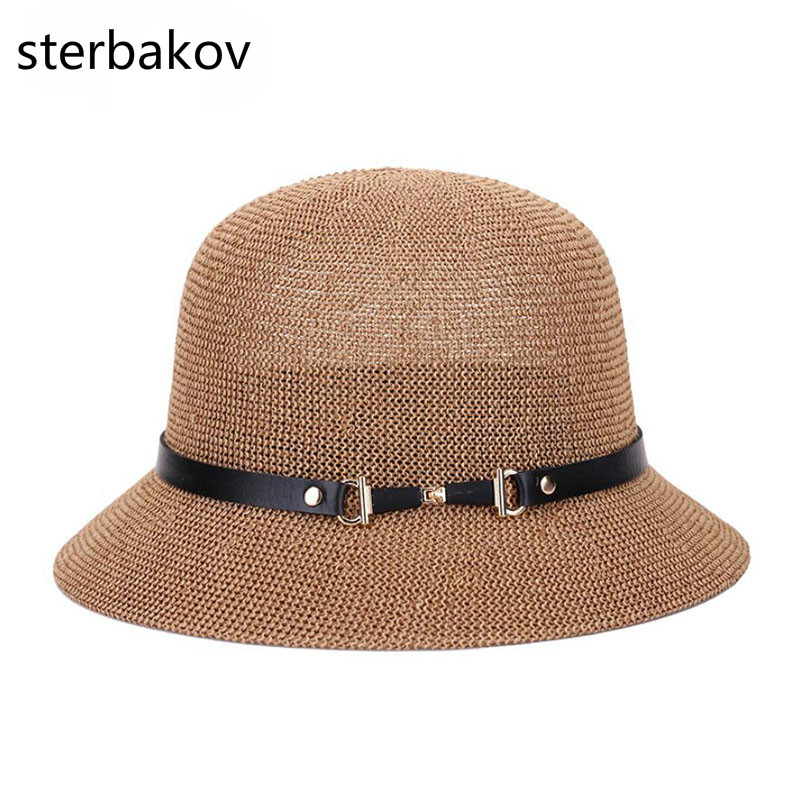 sterbakov The summer sun boater panama hat with Wide Brim hat style for Women, Straw, straw hats and UV Protection yb27a led ac 60 300v digital voltmeter home use voltage display w 2 wires