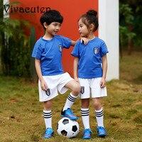 子供スポーツスーツサッカートラックスーツ女の子男の子サッカーユニフォームsurvetementトレーニングtシャツショーツ子供服セットf165