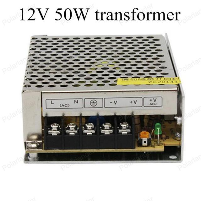 Seguro de calidad simple operación AC 220 V 50 ~ 60 HZ a DC 12 V 50 W Transformador de la Iluminación LED Unidad de fuente de alimentación de tira envío gratis