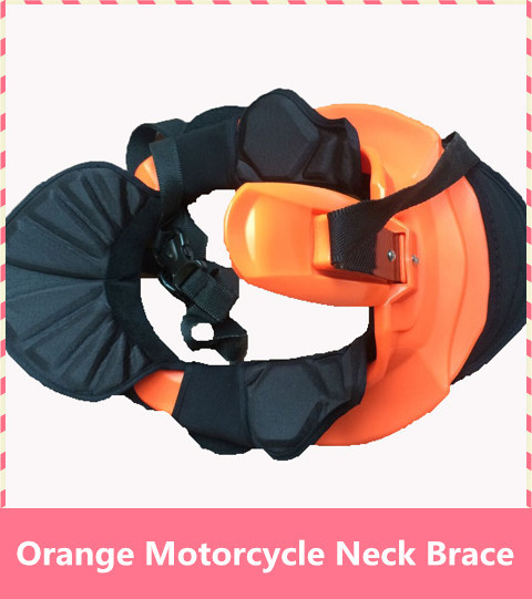 Orange color Motorcycle Neck Brace motorcycle suspenders Motocross Motorbike racing light weightstrong protector 4 size together цена и фото