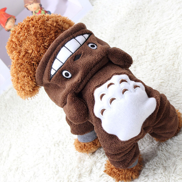 Warm Dog Clothes For Small Dogs Fleece Coat Pet Chihuahua Clothes Puppy Outfit Cartoon Clothing Winter Dog Clothes Apparel 27S1