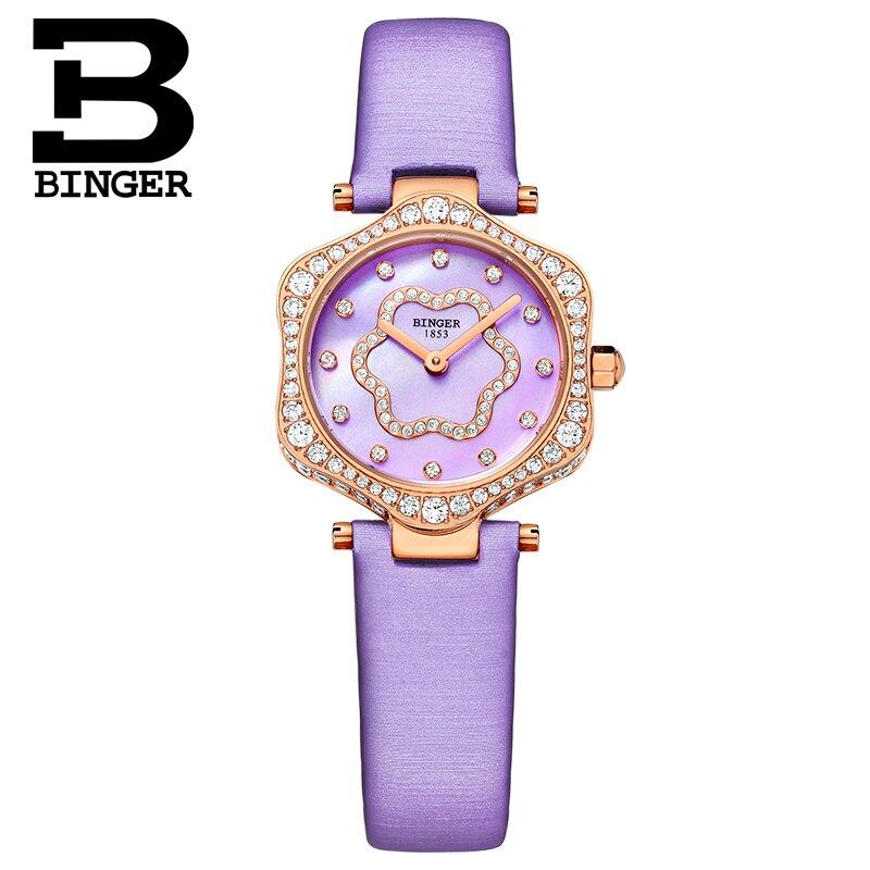 Neue Schweiz BINGER frauen Uhren Luxus Marke Quarz Wasserdichte Uhr Frau Sapphire Armbanduhren relogio feminino B1150 8 - 2