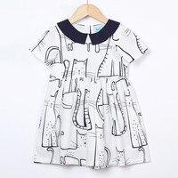 2018 летние платья с короткими рукавами для девочек хлопчатобумажное платье принцессы стильная футболка с изображением персонажей видеоигр ...