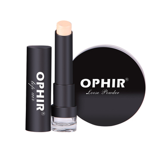 Image 3 - OPHIR Pro Makeup Set Airbrush Makeup System Kit with Air Compressor & Concealer Foundation Blush Eyeshadow Lipstick Set & Bag