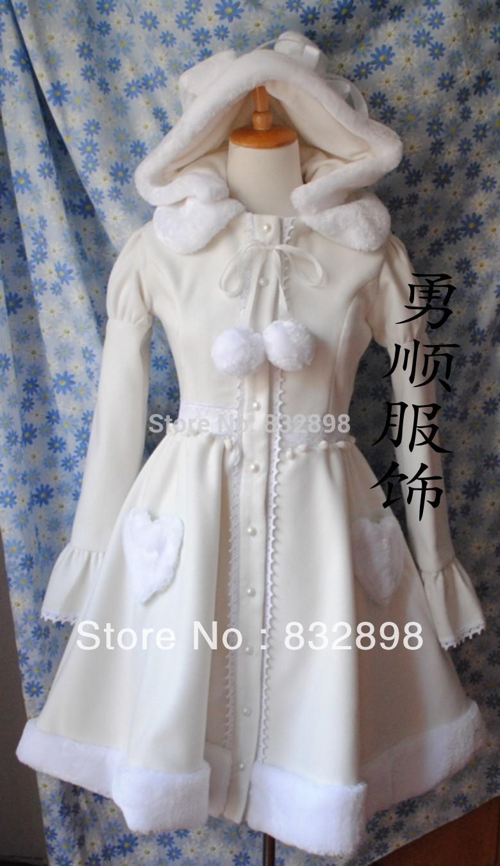 Top Sale Cute Princess Gorgeous Sweet White Winter Rabbit Ears ...
