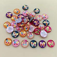 Boutons Cabochon colorés de 10mm, 80 pièces, strass ronds à dos plat, pierres appliquées et cristaux, bricolage de mariage, B31