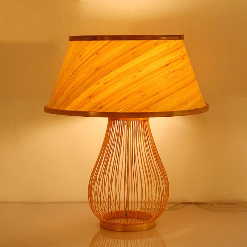 Art lampes de table original bambou chambre chevet lampes de bureau balcon étude table lumière créative éclairage à la maison ZA81022