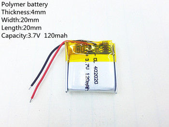 3.7V 120mAh 402020 Lithium Polymer LiPo Rechargeable Battery cells For Mp3 DVD PAD mobile phone bluetooth headphone image
