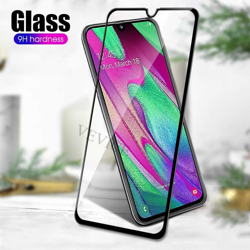 For Samsung A50 Curved Edge Full Cover Tempered Glass for Samsung Galaxy A40 A30 A10 A20 A60 A70 A80 A90 Screen Protector Film