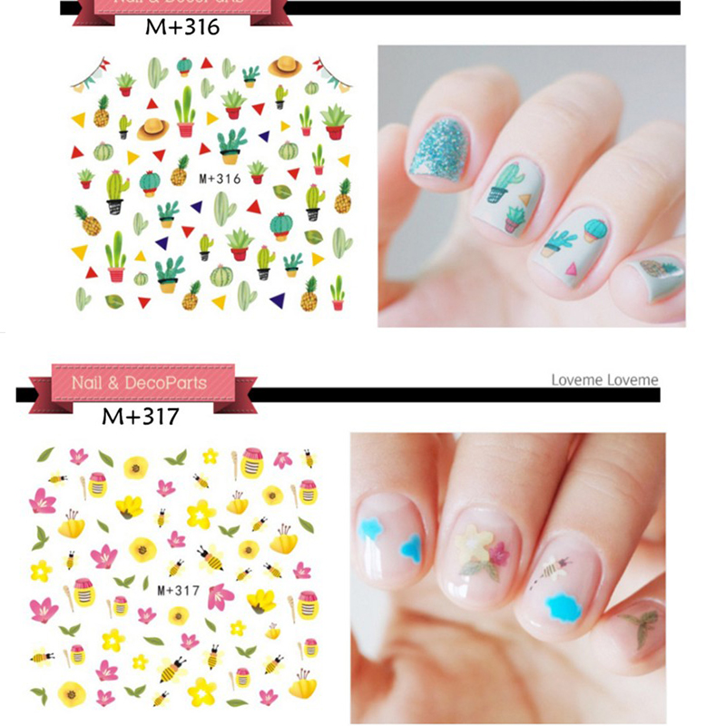 10 sheet  Design Water Transfer Nails Art Sticker Harajuku Rainbow Feathers Nail Wraps Sticker Watermark Fingernails Decals ds300 2016 new water transfer stickers for nails beauty harajuku blue totem decoration nail wraps sticker fingernails decals