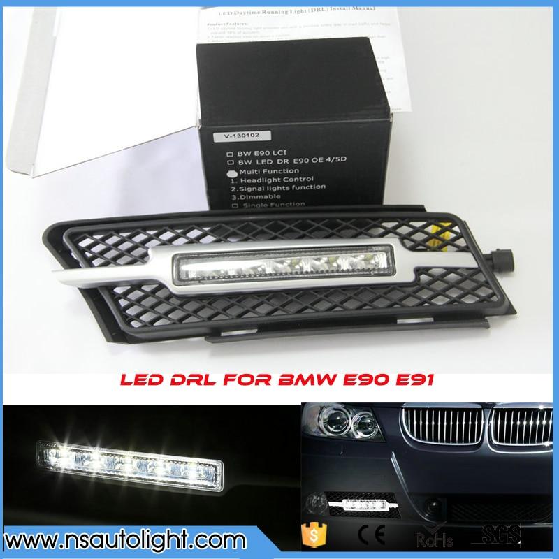 Factory Fitment LED DRL Daytime Running Fog Lights for BMW 3 Series E90 E91 2006 2008