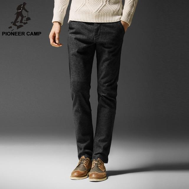 Pioneer Camp. Free shipping.2017 осень зима мода мужская повседневная брюки прямые тонкий мужчины брюки маленькие упругие мужчины одежда