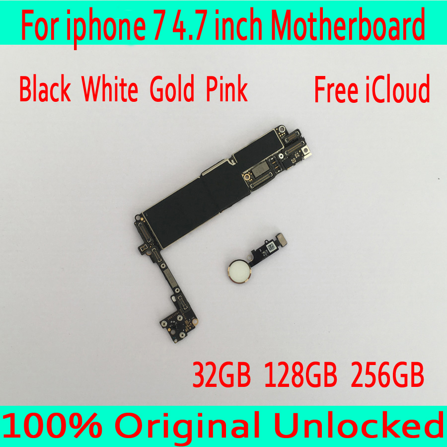 32GB /128GB /256GB for iphone 7 Motherboard with OS System,Original unlocked for iphone 7 Mainboard with Touch ID,Free Shipping