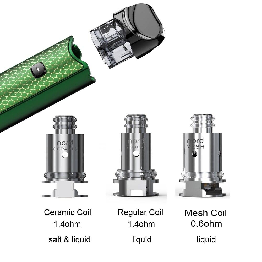 US $9 18 20% OFF|Original SMOK Nord Ceramic Regular Mesh Coil Head  Electronic Cigarette Core Resistance for Nord E Cigarette Vape Pen Mod  Stick-in