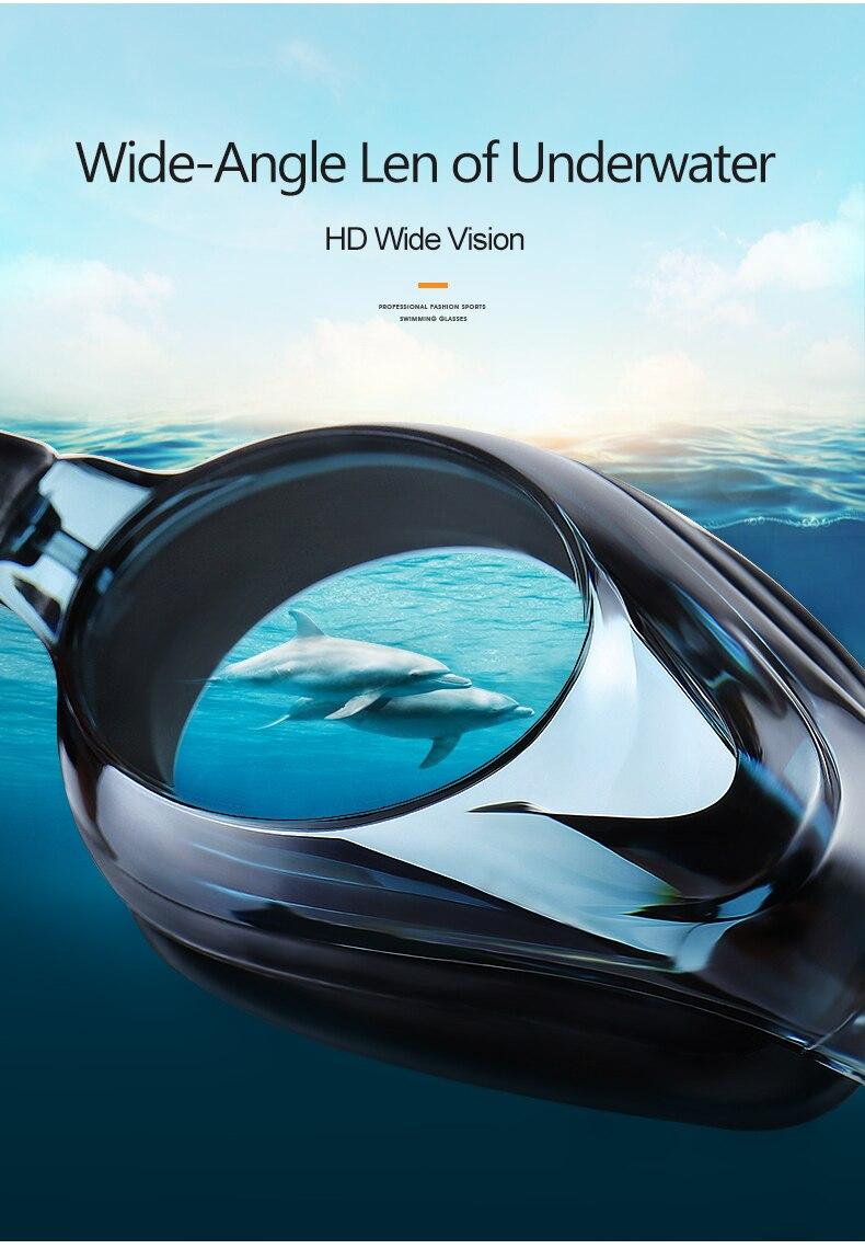 Unisex Professional Myopia Silicone Swimming Pool Glasses Anti Fog Waterproof 16