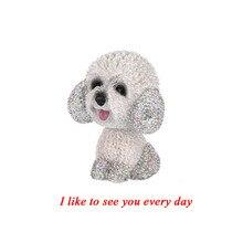 סגנון חדש רכב פנים קישוטי יהלומים חמוד כלב רועד אוטומטי פנים אביזרי רכב קישוט סלון חדר שינה ילדה מתנה