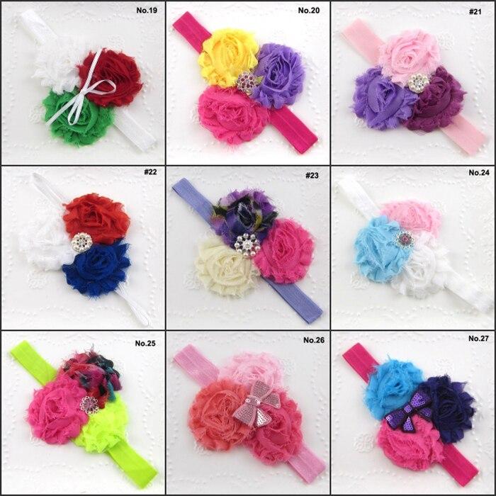 Envío gratis 20 unids/lote Hairbands del bebé niñas vendas de la ...