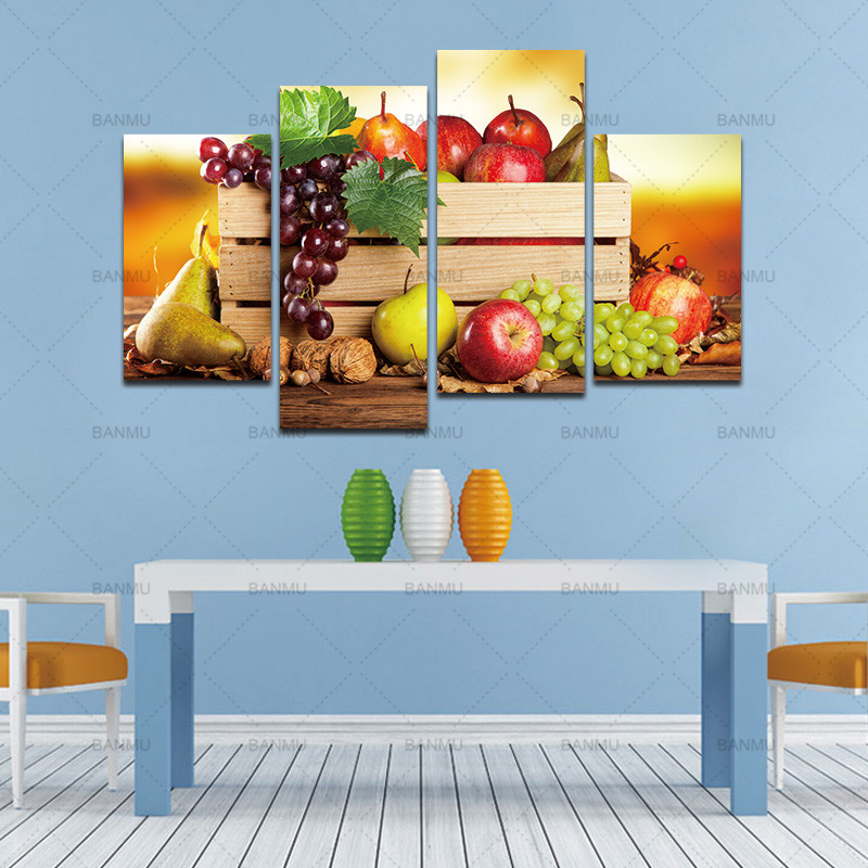 4 Panels canvas paintings wall pictures for living room