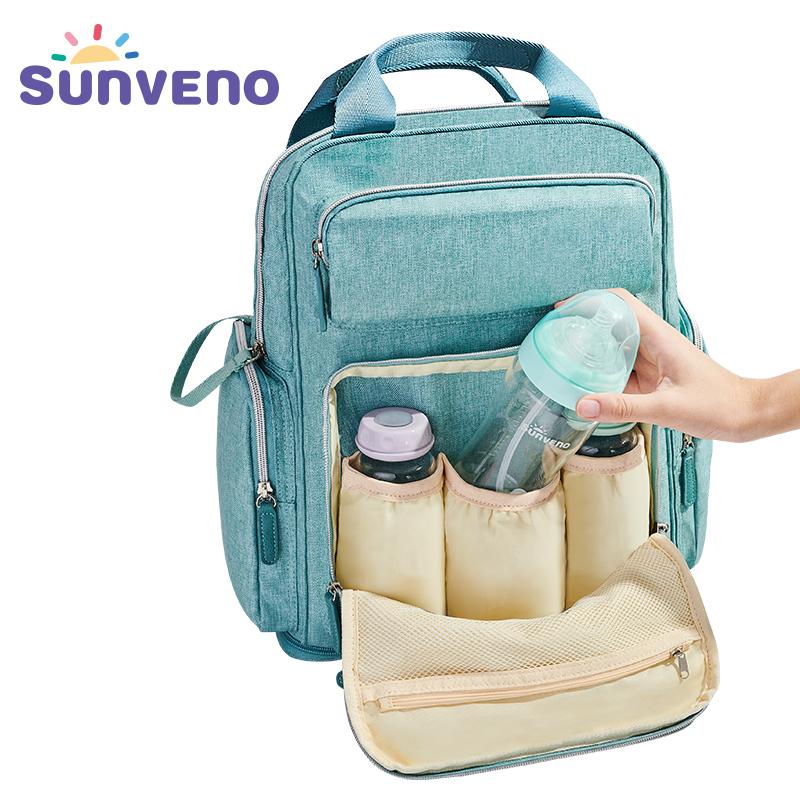 SUNVENO Diaper Bag Backpack Maternity Baby Bag Mom Backpack Stylish Stroller Baby Diaper Bags For MomSUNVENO Diaper Bag Backpack Maternity Baby Bag Mom Backpack Stylish Stroller Baby Diaper Bags For Mom