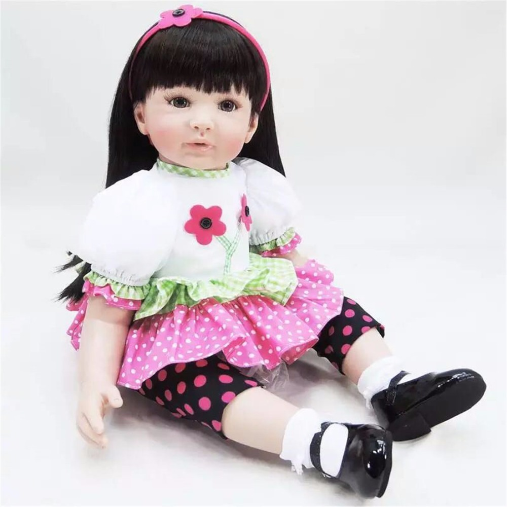 sanydoll hot new reborn silicone baby children s toys magnet pacifier 22 inch 55 cm cute cowboy dress doll 22 inch 55 cm Silicone baby reborn dolls, lifelike doll reborn babies toys Cute dress doll