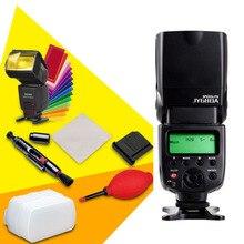 Viltrox jy-680a universal flash flash flash para canon nikon pentax olympus cámaras + limpiador de goma + lente pen + difusor