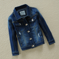 2016 Autumn Classic Kids Jeans Jacket For Boys Girls Clothes Denim Trench Girls Jacket Cotton Fashion