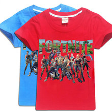 945b3a2e Fortnite 100%Cotton Minecraft Cartoon Children's clothing Casual Summer  Tops Boys Girls Five Nights At Freddys Kids T Shirt tees