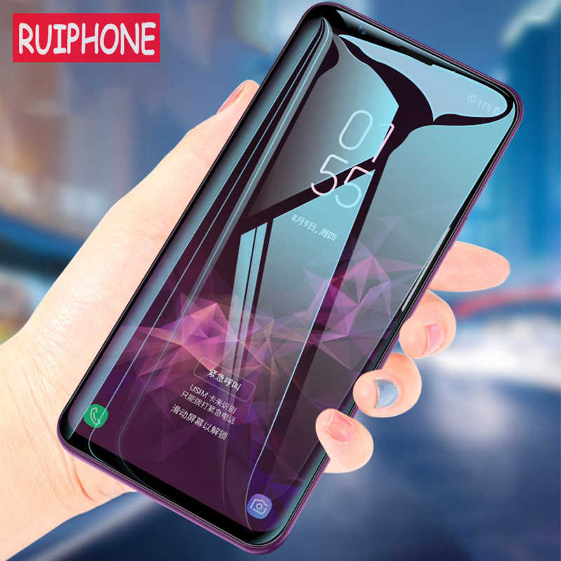 For Samsung Galaxy S9 S8 Plus Screen Protector 5D 9H Tempered Glass RUIPHONE Glass For Note8 Note9 Film Glass Screen Protection