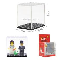 Única Venda 6.4×6.4×4.7 cm Figura Caixa de Exibição Mostrando Caso Conjunto Modelo de Blocos de Construção de Tijolos Brinquedos para crianças