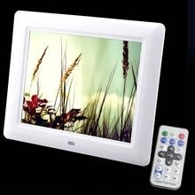 8 Polegada TFT Tela HD LED Backlight 800X600 frame Digital Da Foto Frame Álbum de fotos Eletrônico Música MP3 MP4 Video Foto-Livre expedição