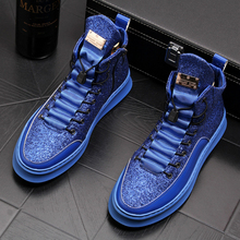 Мужские повседневные дышащие Яркие ботинки из нубука, ночная Клубная одежда в стиле панк, обувь на платформе для молодых подростков, мужские осенние ботильоны