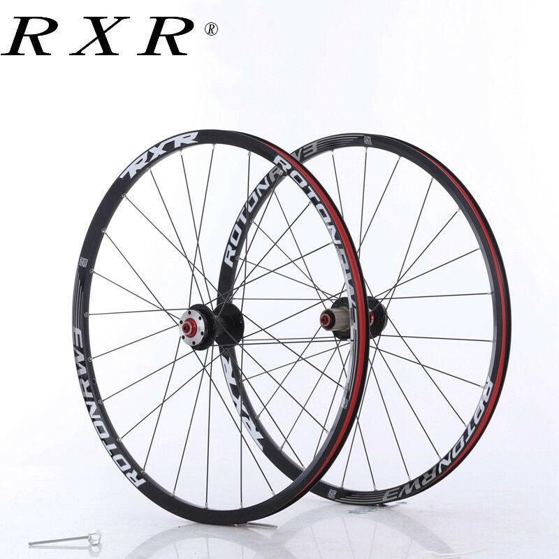 "RXR MTB Bike 7-11 Speed Wheelset Carbon Fiber Hub 26//27.5//29/"" Disc Brake Wheels"