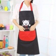 Cute cartoon anti-fouling prevent oil waterproof fashion corduroy apron 72*67cm free shipping