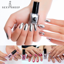 SEXYSHEEP 6 мл зеркальный эффект лак для ногтей металлик Фиолетовый Розовый Золотой Серебряный Хром лак для ногтей маникюрный лак