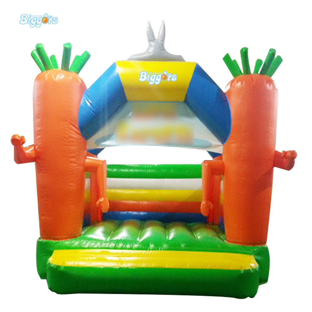 Inflatable Bouncer Inflatable Carrot Bounce House Castle With Air Blowers