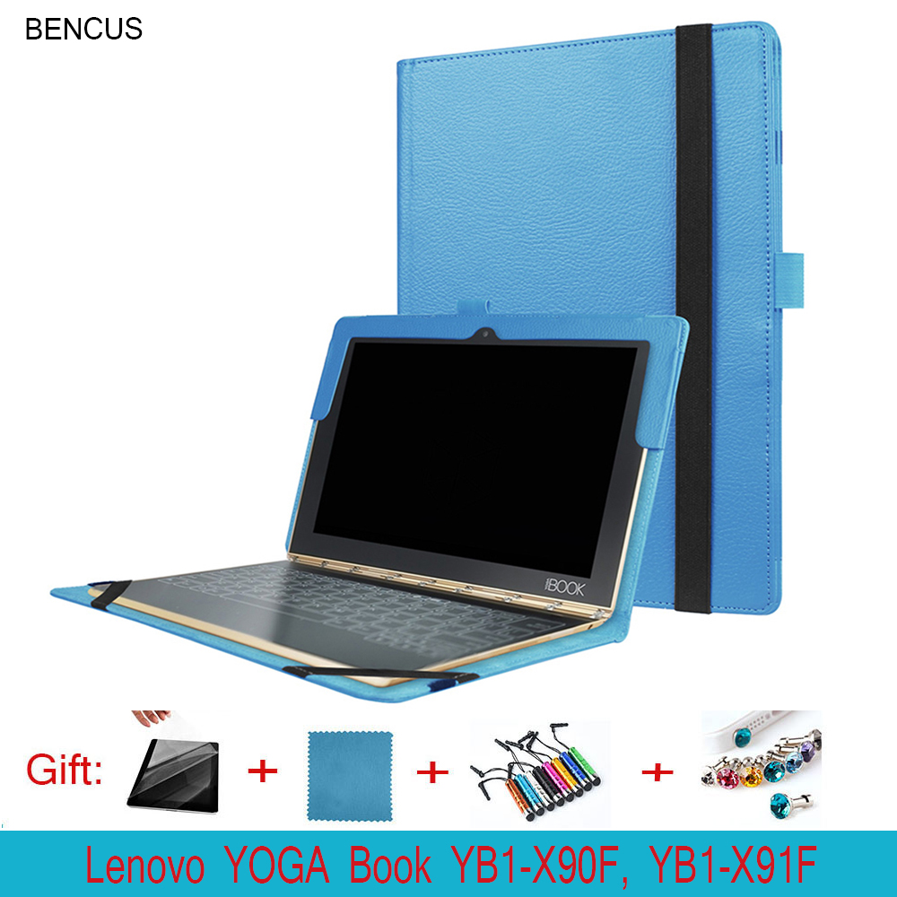 BENCUS Pu Leather Cover for Lenovo YOGA Book 10.1 Tablet Laptop YB1-X90F YB1-X91F Folio Case w/ Stand Folding Protective Shell
