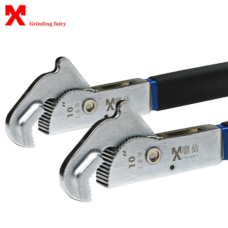 1pcs Universal Wrench Multifunction Adjustable Pipe Spanner Tool 4-16 Inch High Quality Home Hand Tools Quick Snap Grip Wrench