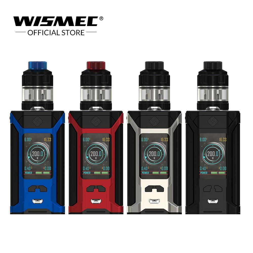 D'origine Wismec SINUEUX RAVAGE230 avec GNOME Evo Kit 2 ml/4 ml 230 W Sortie VW/TC-Ni/TC-Ti/TC-SS/TCR mode cigarette Électronique vaporisateur