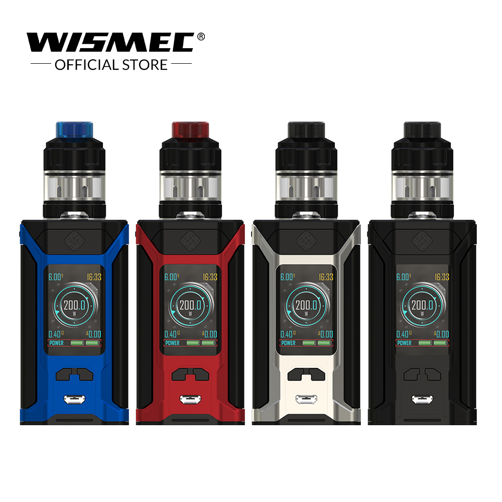 Original Wismec SINUOUS RAVAGE230 with GNOME Evo Kit 2ml/4ml 230W Output VW/TC-Ni/TC-Ti/TC-SS/TCR mode Electronic cigarette vape педаль tc electronic honey pot fuzz