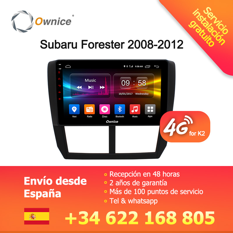Ownice C500 + G10 Octa base Android 8.1 32g ROM 2.5D Voiture DVD GPS Navi Lecteur Radio Pour Subaru forester XV WRX 2008 2009-2012