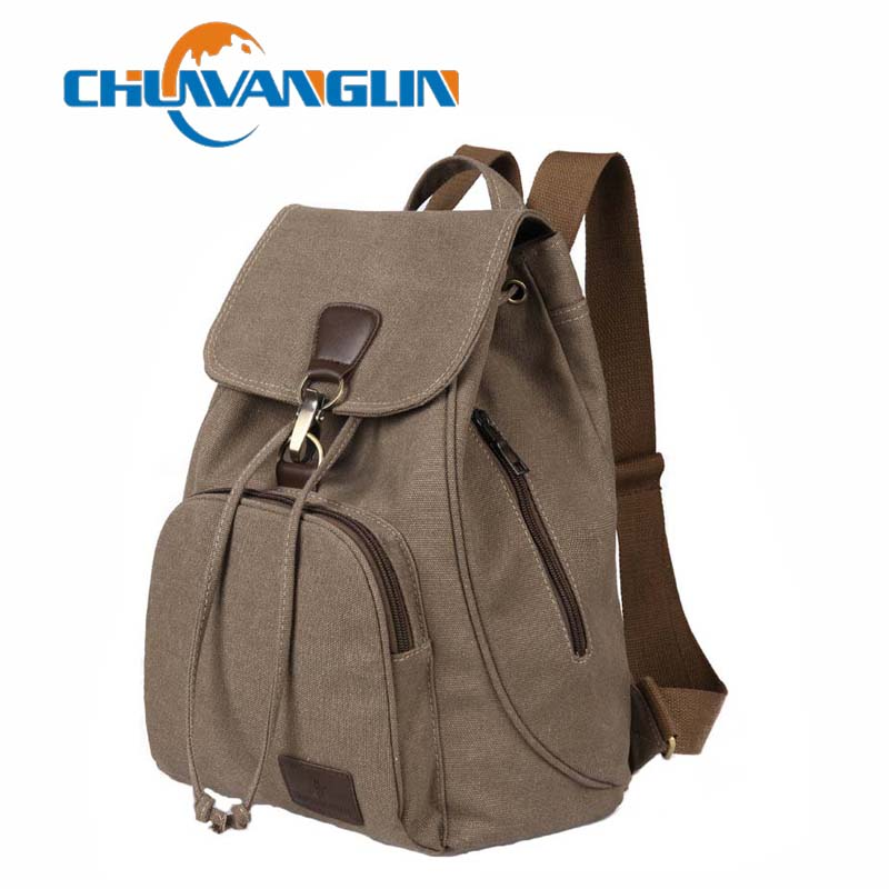 Chuwanglin Female women canvas backpack preppy style school Lady girl student school laptop bag mochila bolsas ZDD6294
