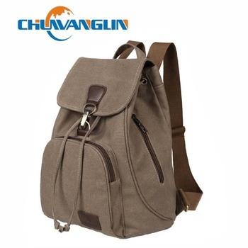 Chuwanglin หญิงผู้หญิงผ้าใบกระเป๋าเป้สะพายหลัง preppy สไตล์โรง