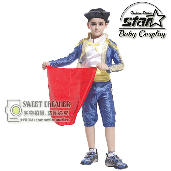 Childrens Party Costume Spanish Matador Masquerade Cosplay Set Halloween Costume For Kids Boys Dance Clothing Carnival Wear