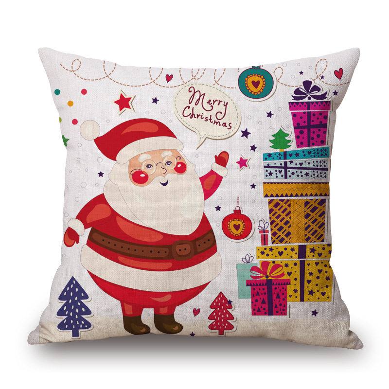 Online Shop Maiyubo Christmas Cushion Cover Santa Claus Pattern Pillow Case Sofa Home Decorative Pillow Christmas Almofadas Cojines PC285 | Aliexpress ...