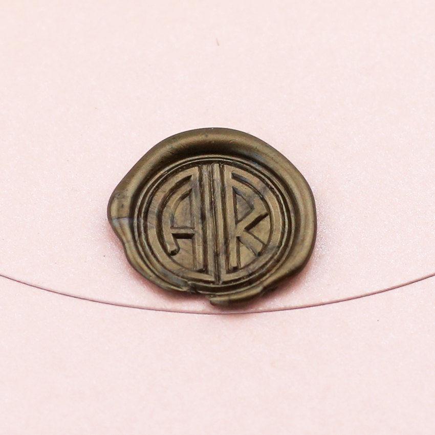 ��custom great gatsby del monograma inicial cera sello