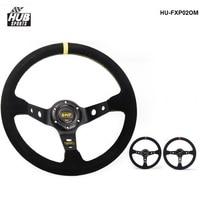 Hubsports Modified Steering Wheel Suede Leather Steering Wheel Automobile Race Steering Wheel Steering Wheel HU FXP02OM